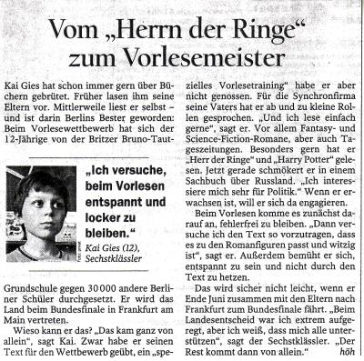 Vorlesewettbewerb: Kaigieser Berliner Meister 2008